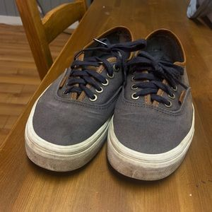 Leather and canvas vans